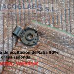 Malla de ocultación de Rafia 90% con grapa redonda