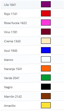 Colores metacrilatos