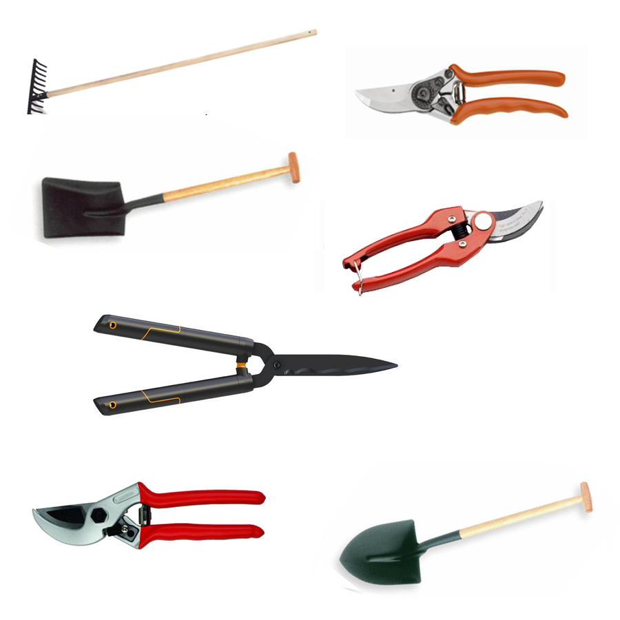 herramientas jardinería