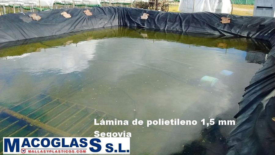 L minas para estanques y embalses macoglass for Polietileno para estanques