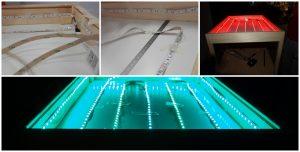 insalación electrica mesa de luz