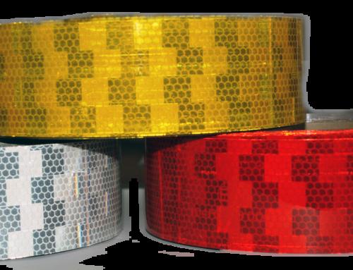 Cinta adhesiva reflectante para marcaje de vehículos