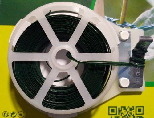 Alambre plastificado verde con cortador