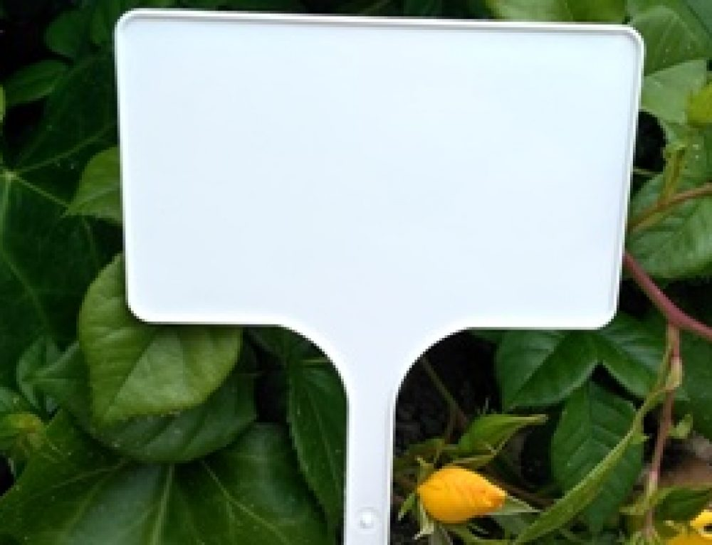 Pincho señalización plantas
